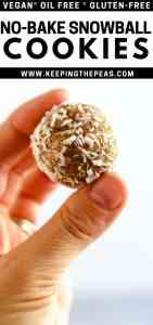 no-bake snowball cookies