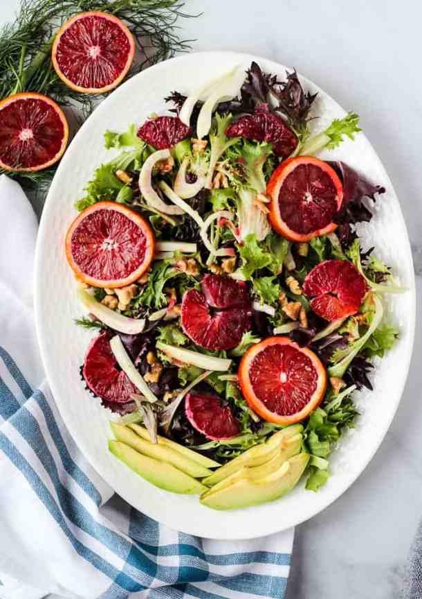 blood orange salad overhead