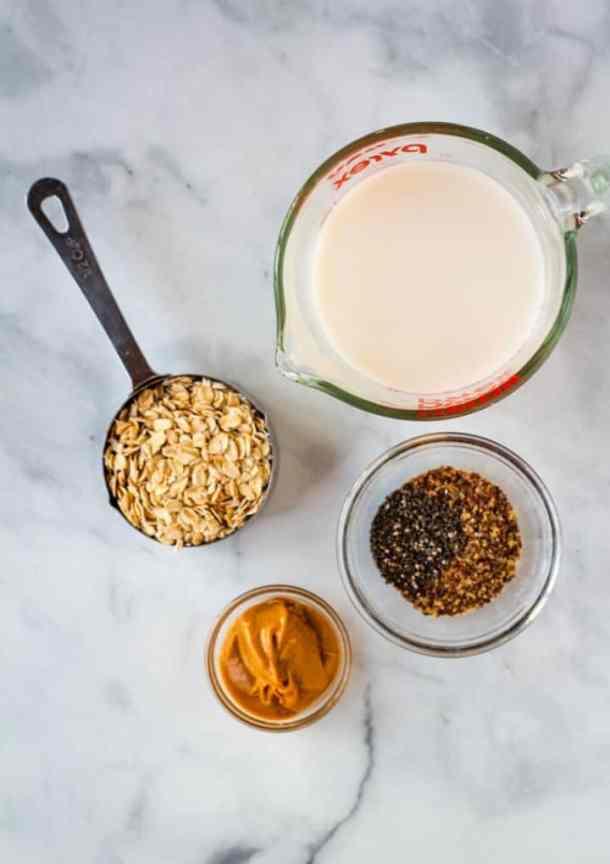 peanut butter overnight oats ingredients