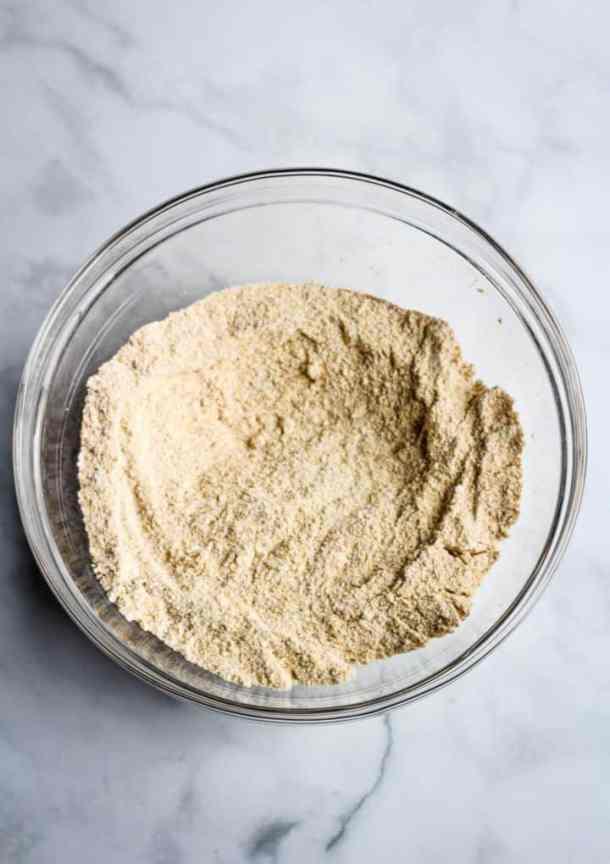 cornmeal, flour, sugar, baking powder, and salt