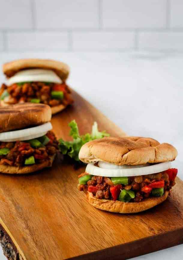 vegan sloppy joes front view