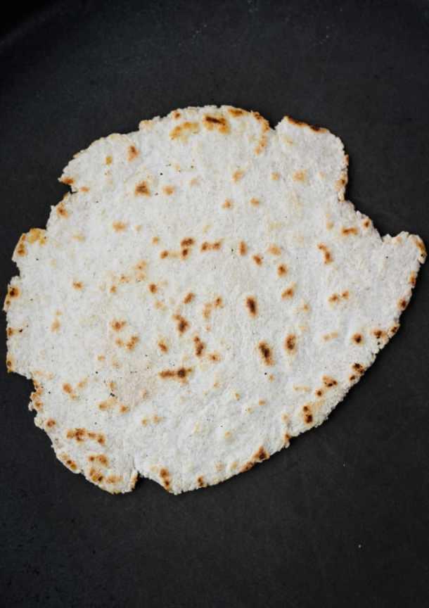 no yeast flatbread on skillet