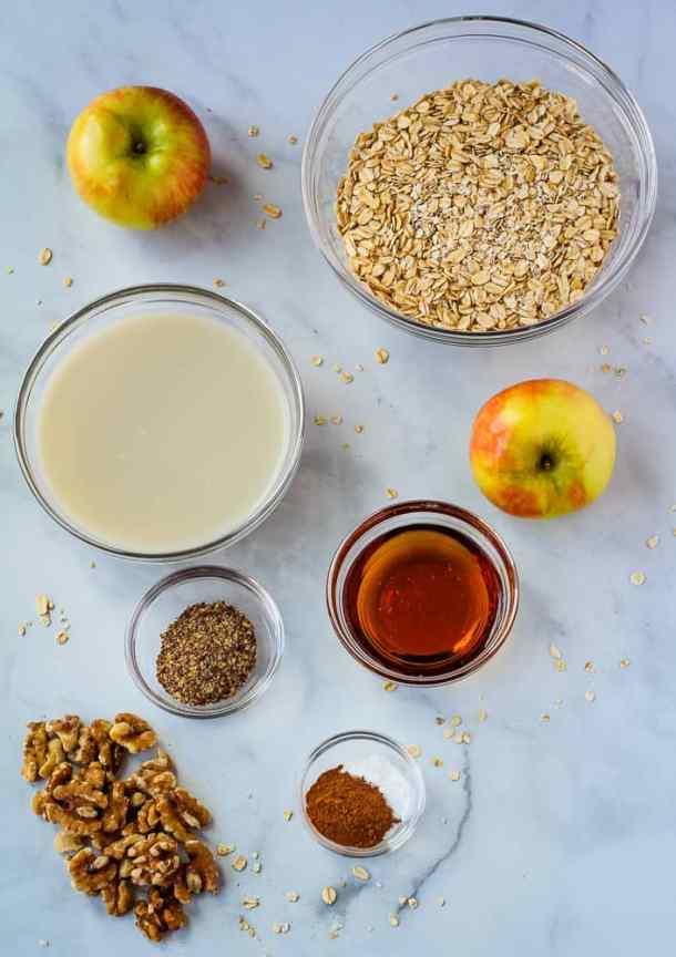 vegan baked oatmeal ingredients