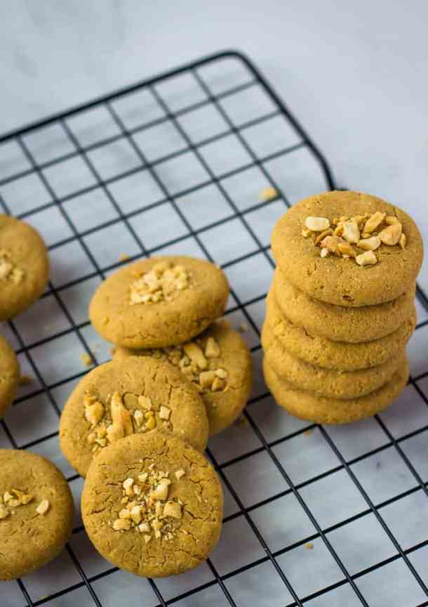 chickpea cookies stacked