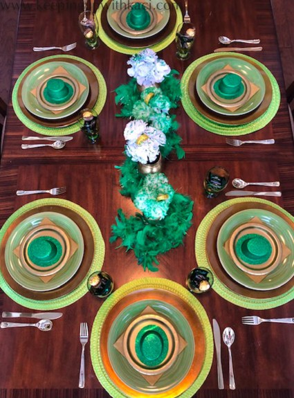 Budget Friendly St. Patrick's Day Tablescape