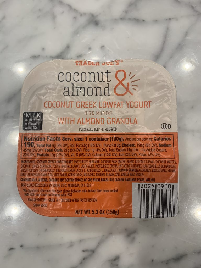 Healthy Breakfast Ideas: Trader Joe's Greek Yogurt