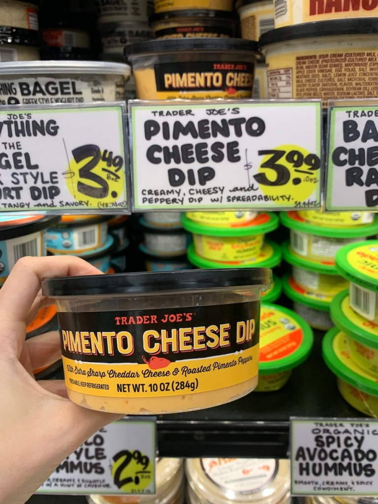 Best Trader Joe's snacks, pimento cheese dip