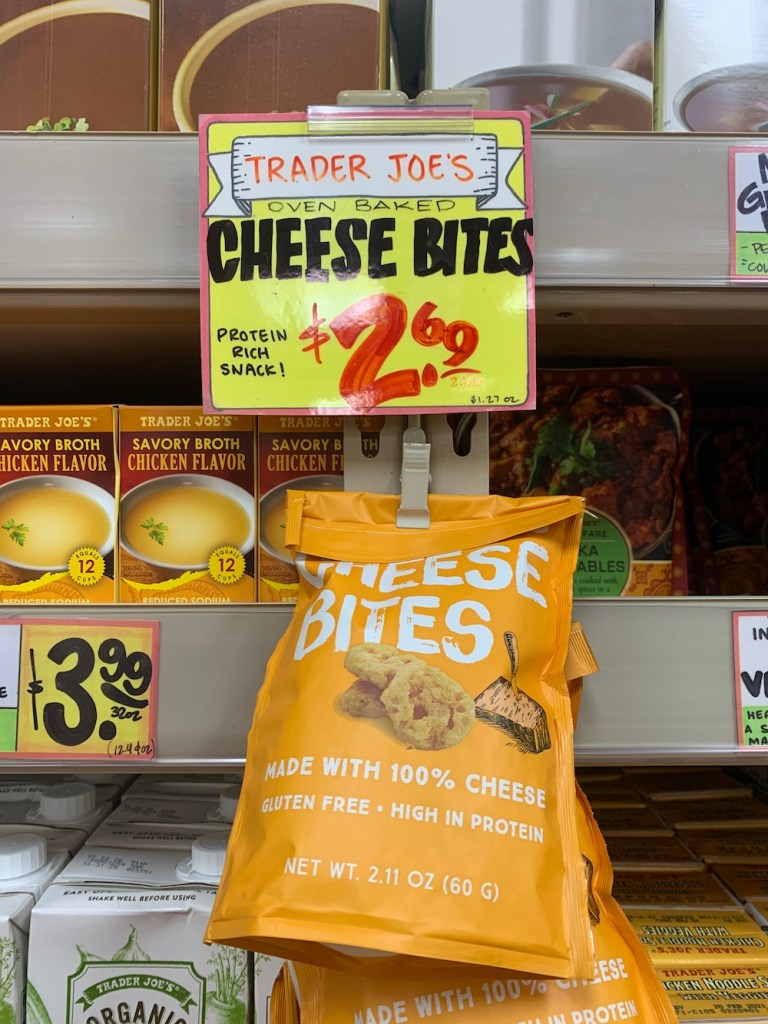Best healthy Trader Joe's snack: Trader Joe's Oven Baked Cheese Bites