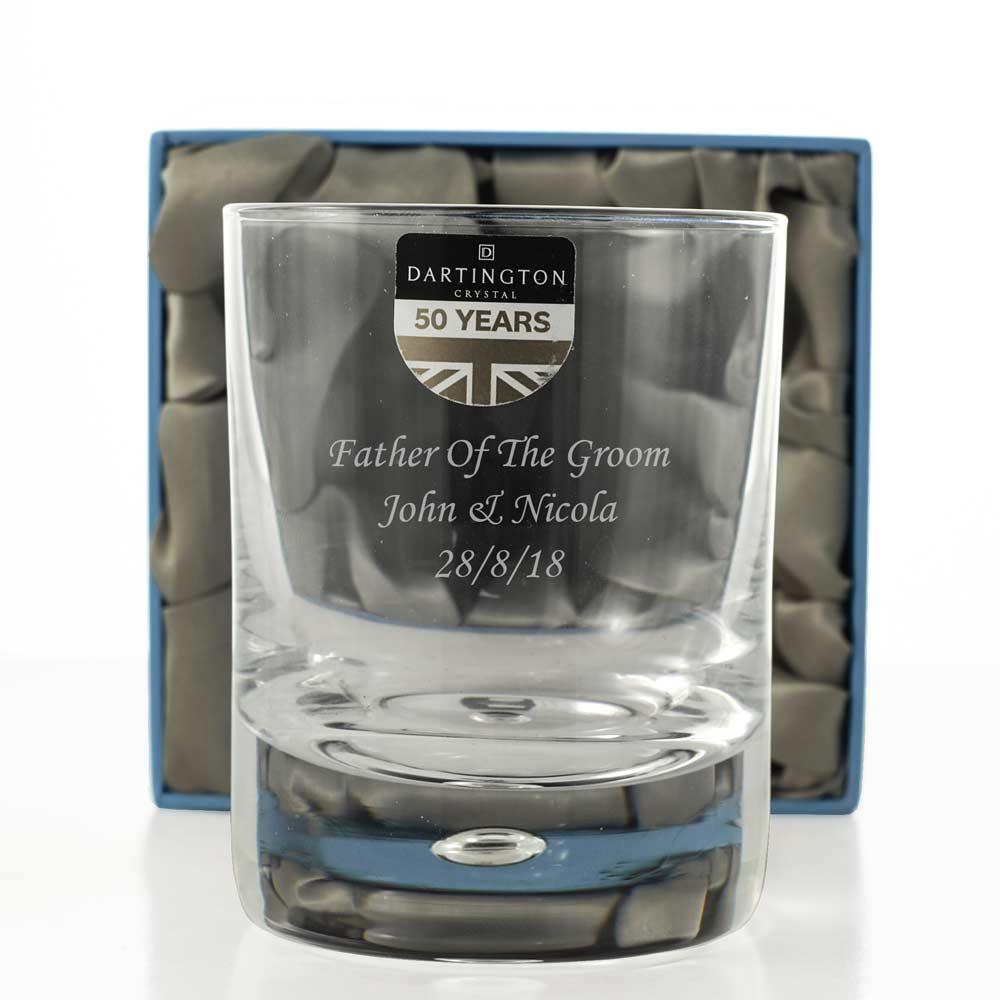 Dartington Engraved Crystal Whiskey Glass Tumbler