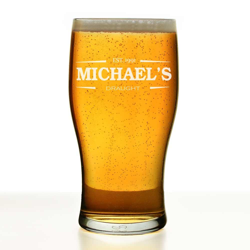 Personalised Irish Themed Pint Glass