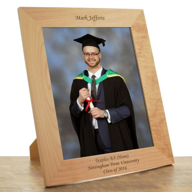 ... Gifts / Photo Frames / Personalised Wooden Graduation Photo Frame