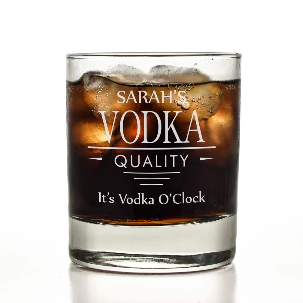 Personalised Vodka Glass