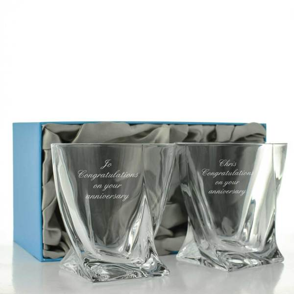 Engraved Whiskey Glass Sets