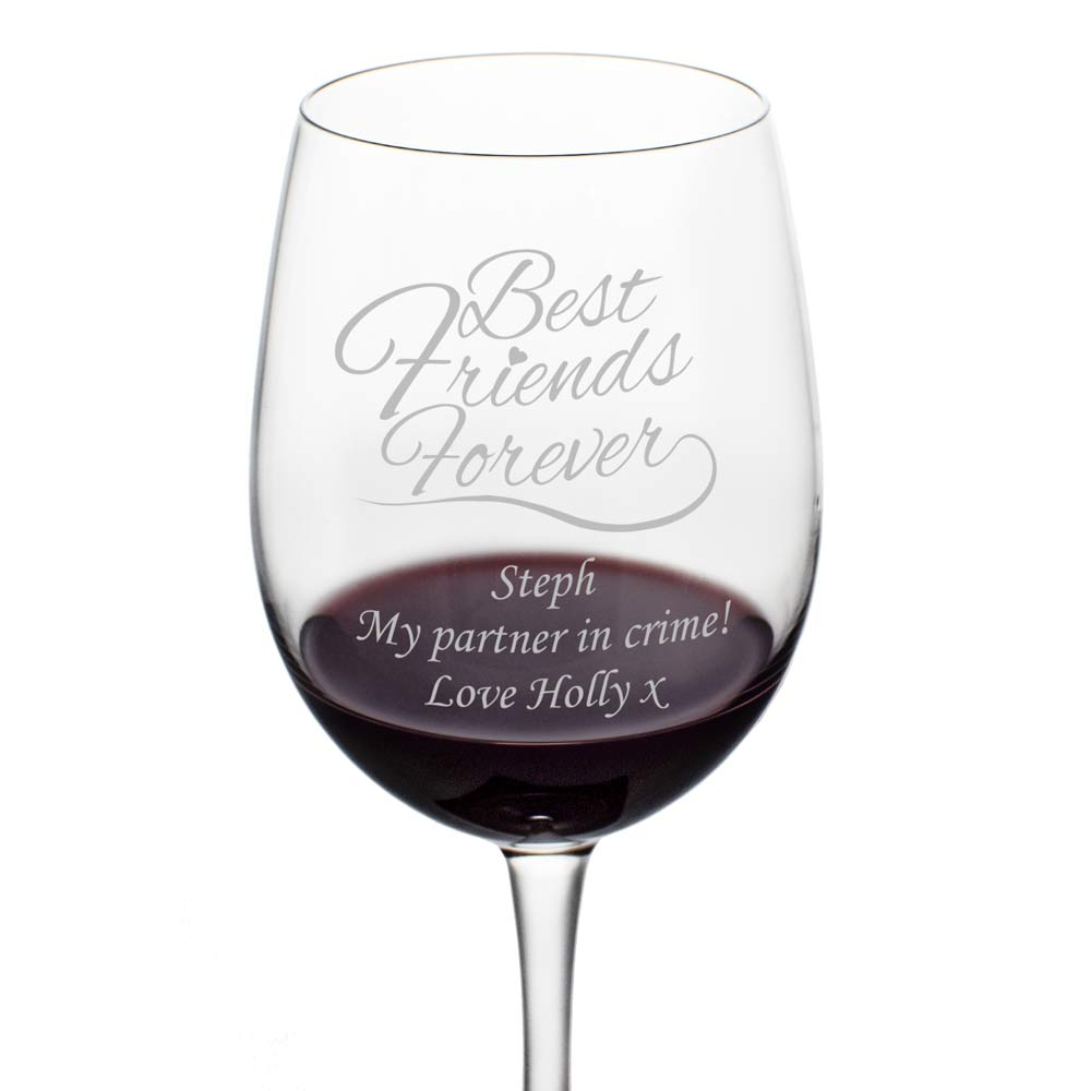 Personalised Best Friends Forever Wine Glass