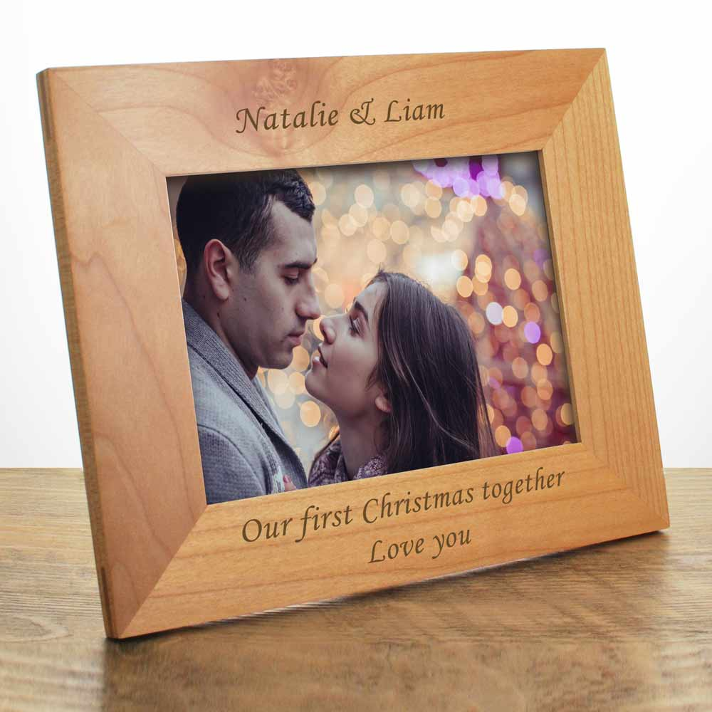 personalised engraved wooden frame