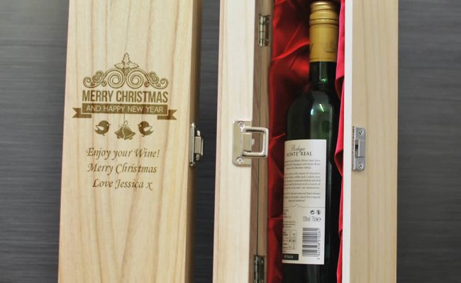 Merry Christmas Personalised Wine Box