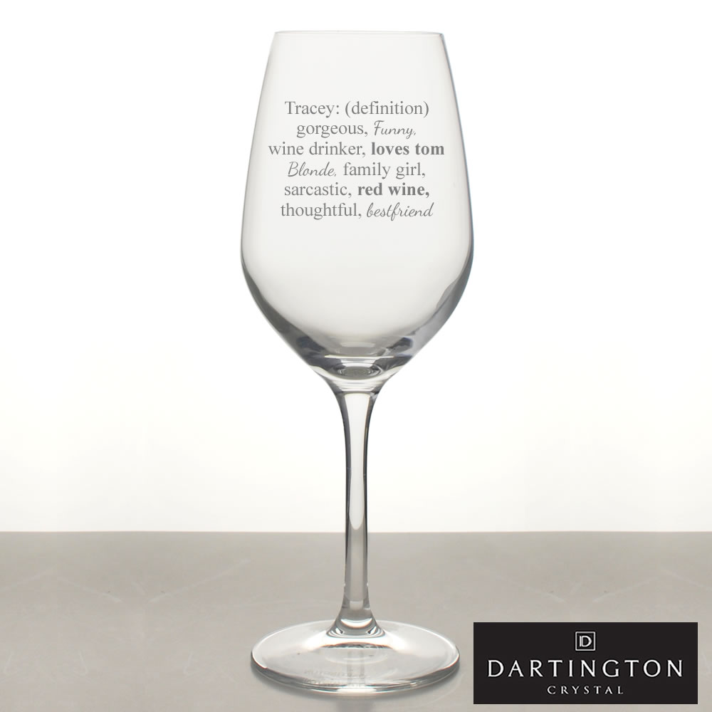 Definition Of Name Wine Glass Personalised With 15 Words
