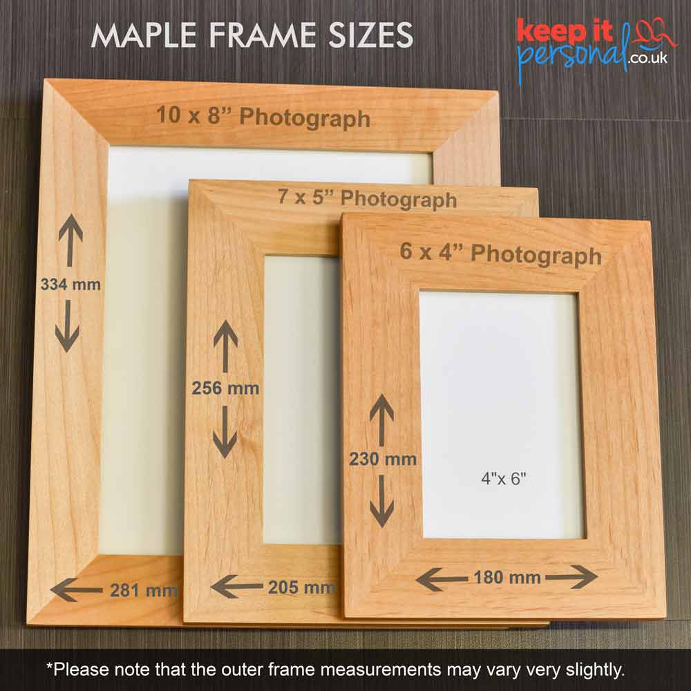 Personalised Wooden Photo Frame Laser Engraved