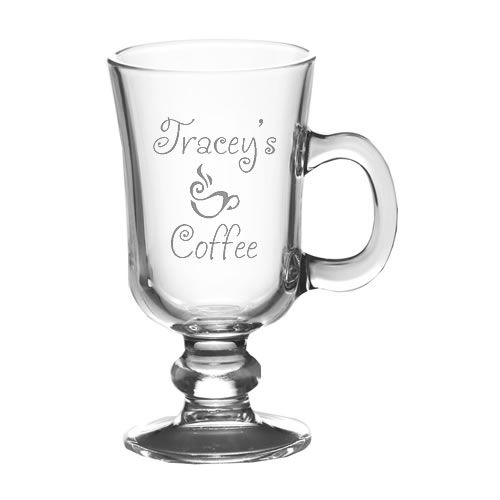 Personalised Coffee Mug Irish Latte And Cappuccino Glass