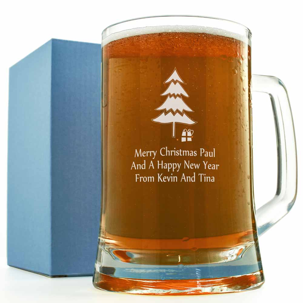 Christmas Pint Glass Personalised And Engraved Just 1295