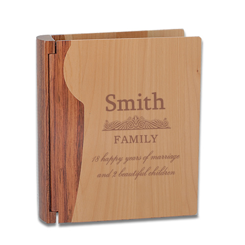 Personalised Wooden Family Photo Album Personalised Wooden