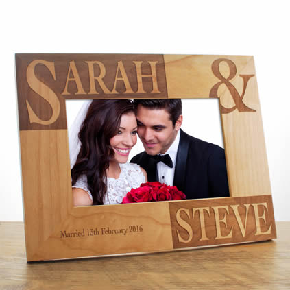 Image showing wooden photo frame