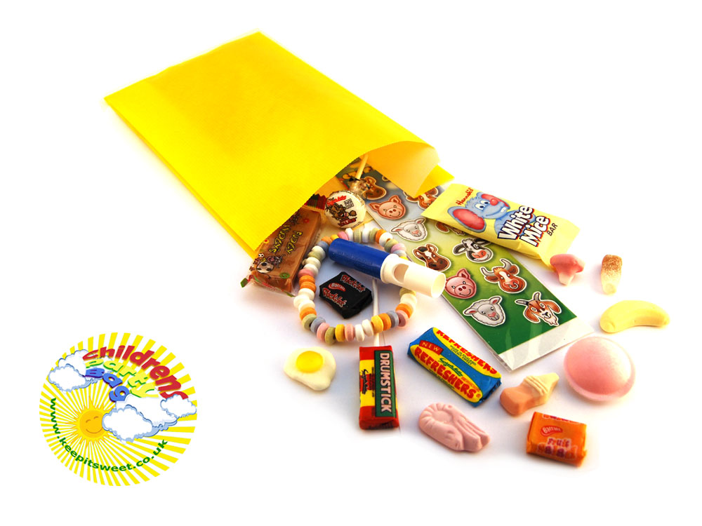 Childrens Retro Sweet Party Bag Keep It Sweet
