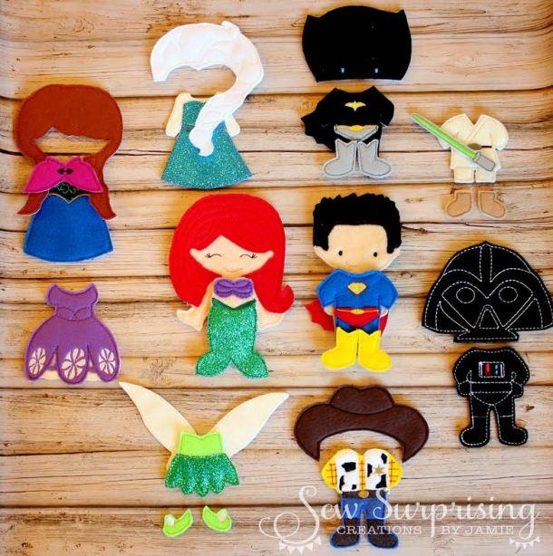 Sew Surprising Felt Paper Dolls