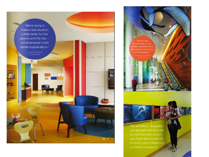 Bold Color Pallette for Childrens Hospital in ChicagoIL