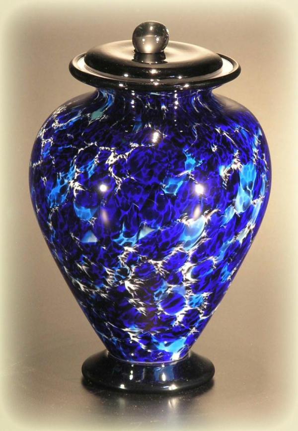 Handblown Glass Memorial Urns