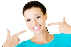 Woman with a big smile.