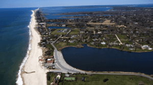 Aerial view of Suffolk County, NY
