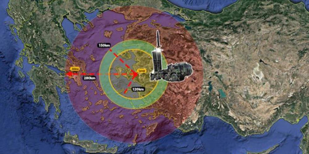 Turkey's War Scenarios against Greece: Missiles to strike Athens