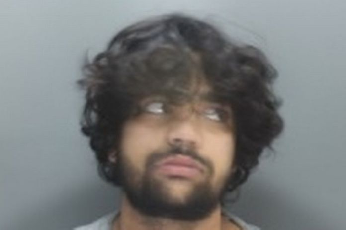 Nikesh McHugh, 25, arrested together with his brother Jon Wright for causing serious bodily harm against taxi driver and bystanders.