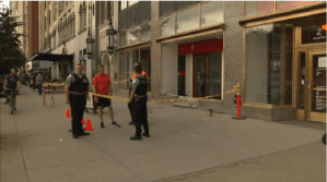 Taxi crashes into a Bank of America in Chicago