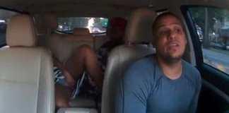 Calm taxi driver coaches woman through back-seat childbirth