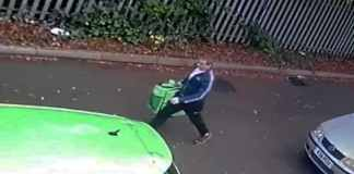 UberEATS delivery guy caught taking a poo right outside customer's house.
