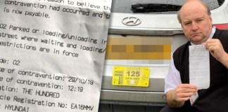 A taxi driver who left his car on double yellow lines for '60 seconds' to assist a disabled customer was hit with a £70 parking fine.
