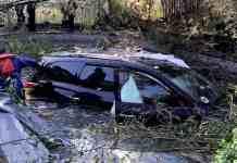 Uber driver crashes into backyard swimming pool
