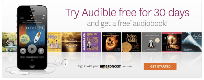 Image result for audible trial offer banner