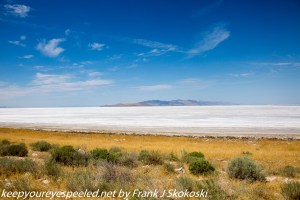 Salt flats near Great Salt lake utah