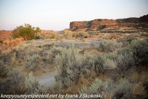 scenery of sage and brush in high desert near Shoshone Falls