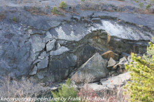 rock formation in strip mine