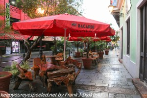 outdoor cafes in old San Juan