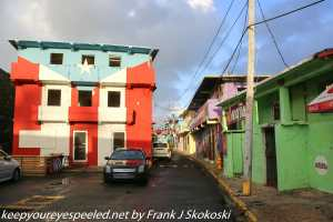 colorful house on street in La Perla