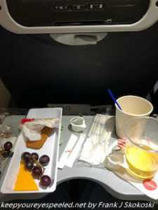 cheese tray lunch on airplane