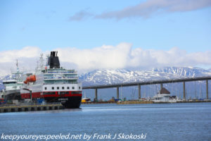 ship and mountains in harbor