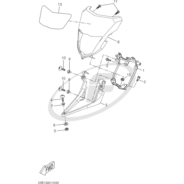 STAY HEADLIGHT BRACKET 22B-F3174-00 Yamaha WR125R WR125X
