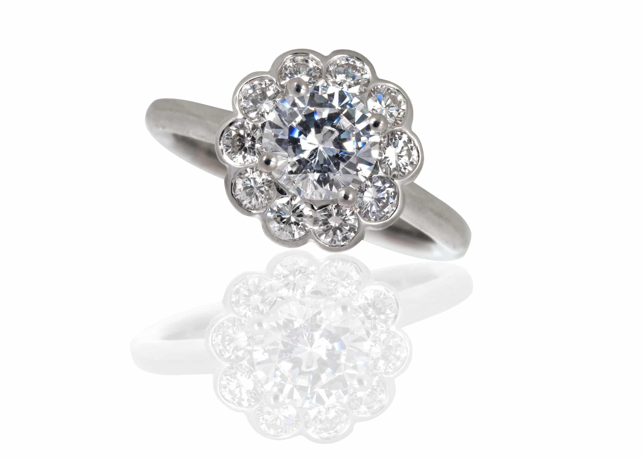 Reset Remount Diamond Engagement Ring Boston Keezing Kreations