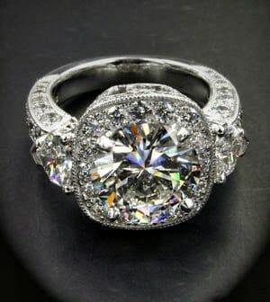 Halo Diamond Engagement Ring Keezing Kreations